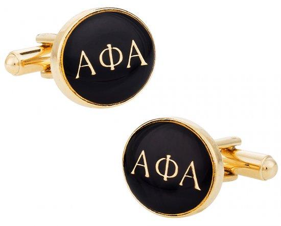 Alpha Phi Alpha Black Gold Cufflinks
