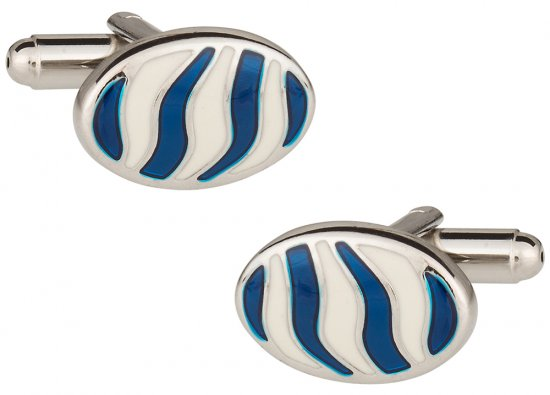 Zebra Style Animal Cufflinks