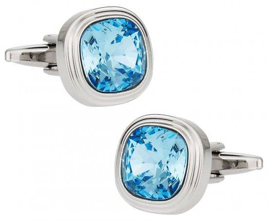 Aquamarine Blue Crystal Cufflinks