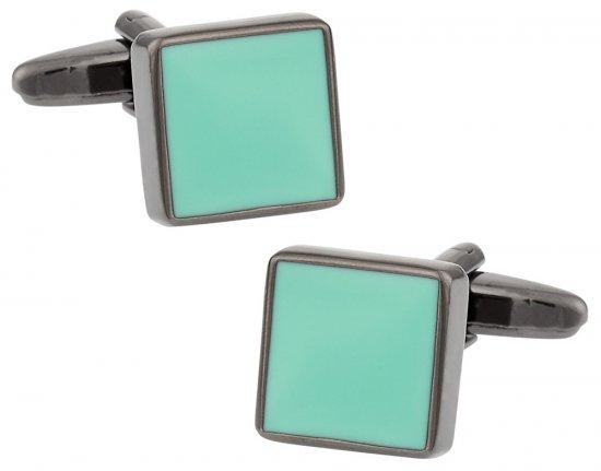 Aquamarine Gunmetal Cufflinks