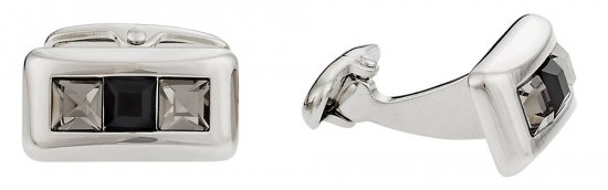 Austrian Crystal Cufflinks in Gray