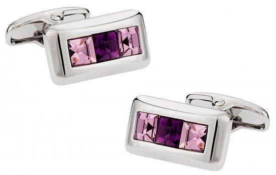 Austrian Crystal Cufflinks in Purple