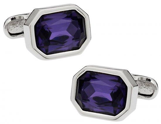 Austrian Shimmering Crystal Amethyst Cufflinks
