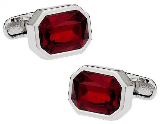 Austrian Shimmering Crystal Siam Red Cufflinks