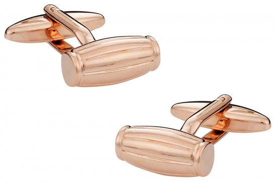 Barrel Cufflinks in Rose Gold