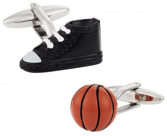 Basketball Cufflinks in 3D