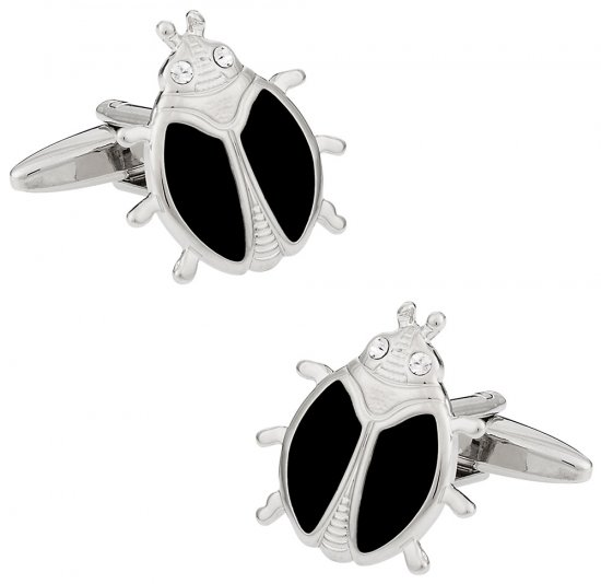 Black Ladybug Cufflinks