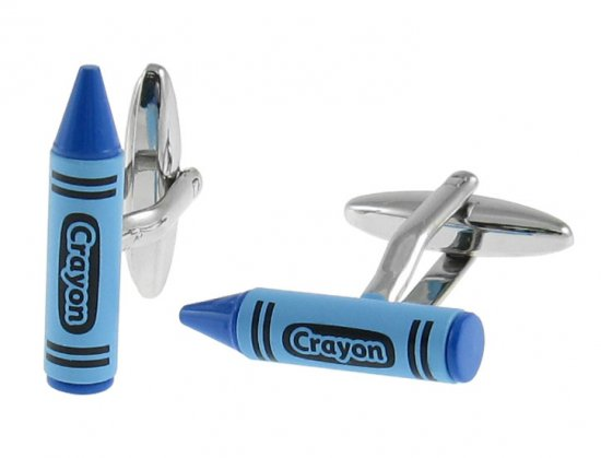 Blue Crayon Cufflinks