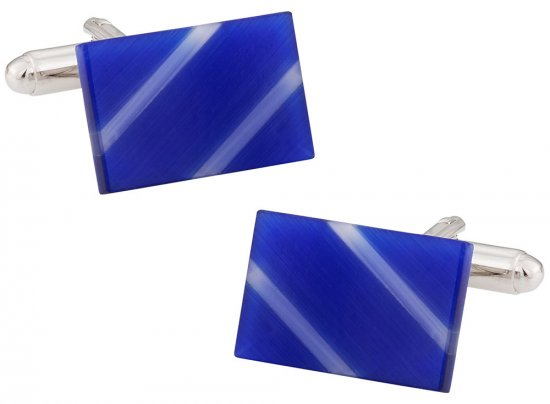 Blue Slash Cufflinks