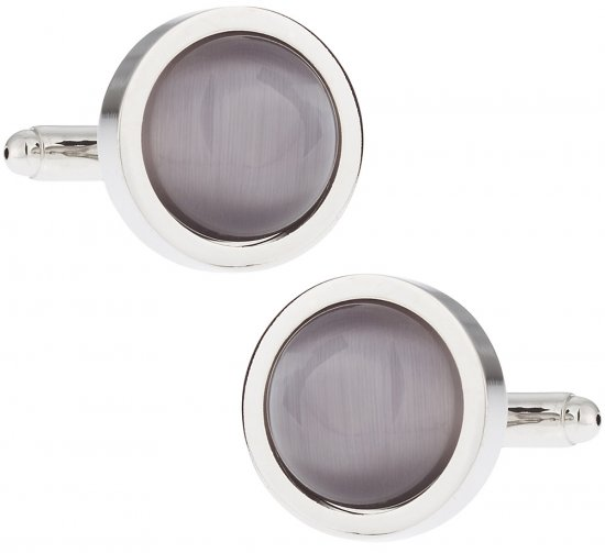 Silver Glass Cufflinks