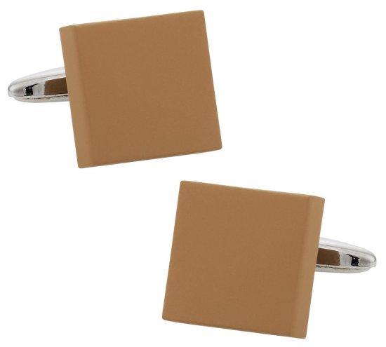 Brown Modern Square Cufflinks