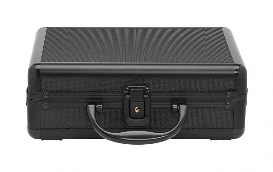 Black Watch Briefcase Aluminum Mens Watches Storage (Holds 8 Timepieces)