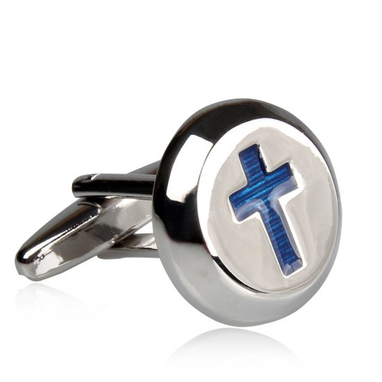 Christian Cross Religious Cufflinks