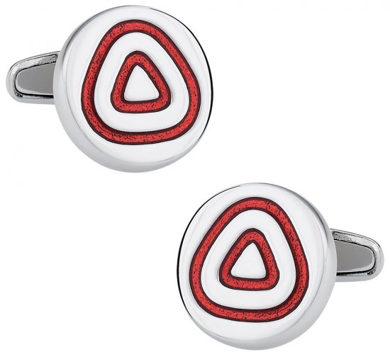 Concentric Red Cufflinks