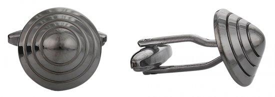 Conical Cufflinks in Gun Metal
