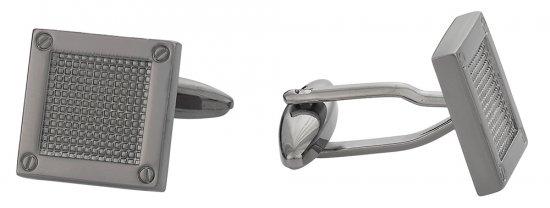 Contemporary Gun Metal Cufflinks