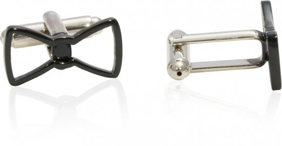 Cool Black Bow Tie Funny Formal Cufflinks