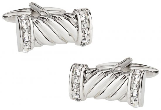 Crystal Rope Cufflinks