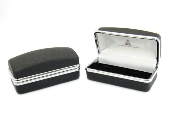 Crystal Step Black Cufflinks