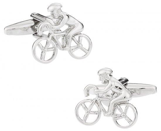 Cyclist Bicycle Cufflinks
