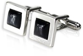 Dark Gray Glass Cufflinks