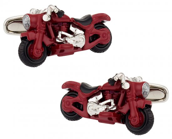 Detailed Motorcycle Cufflinks