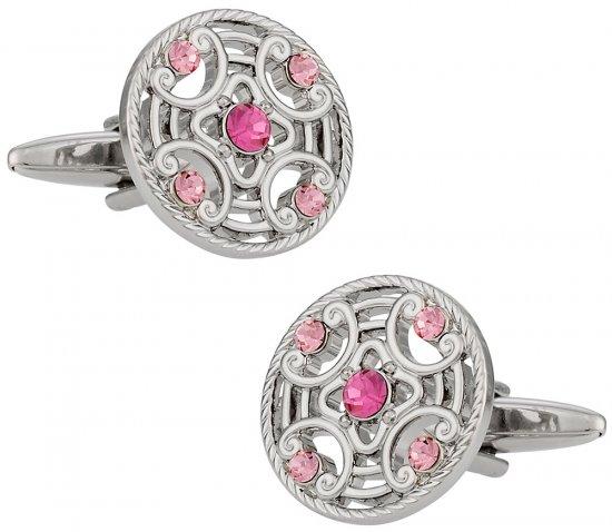 Detailed Pink Cufflinks