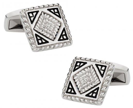 Detailed Stainless Steel Cufflinks
