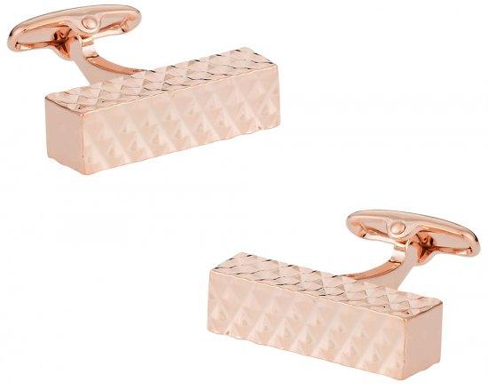 Diamond Bar Rose Gold Cufflinks