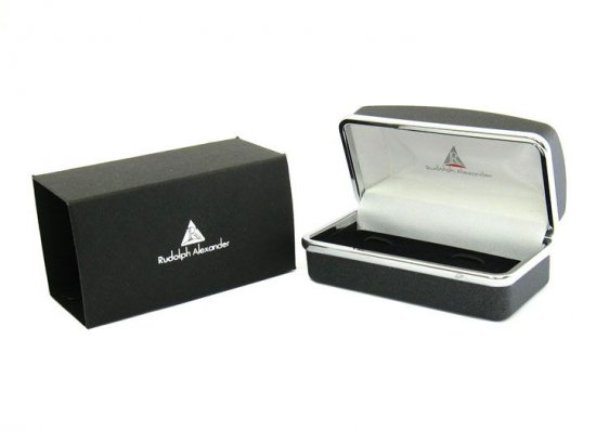 Diamond Edge Gunmetal Cufflinks