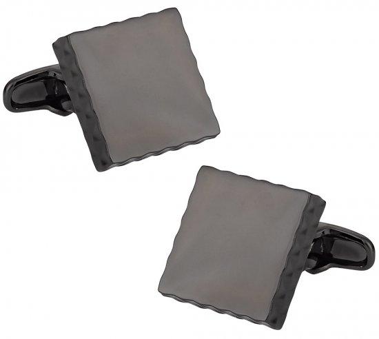 Diamond Edge Gunmetal Cufflinks
