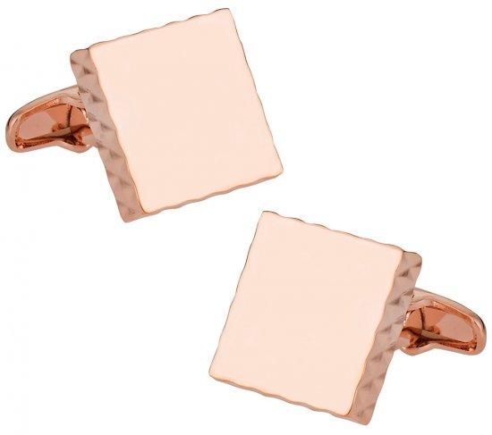 Diamond Edge Rose Gold Cufflinks