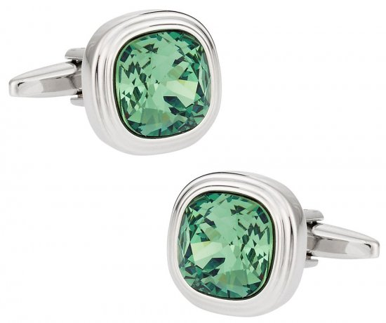 Erinite Green Crystal Cufflinks
