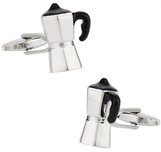 Espresso Coffee Maker Barista Cufflinks