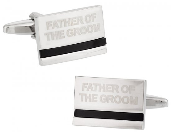 Father of the Groom Wedding Cufflinks with Onyx