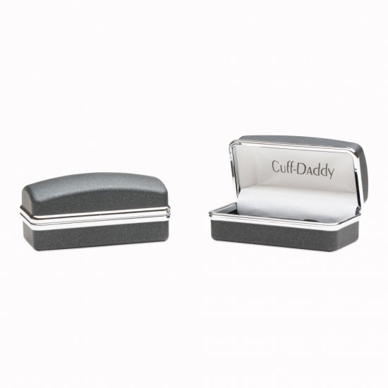 Professional Gold and Silver Diagonal Cufflinks