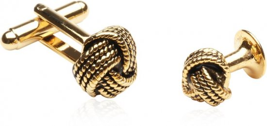Gold Knot Formal Set of Cufflinks Studs