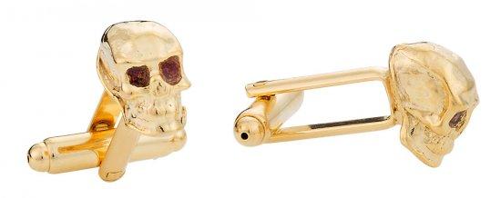 Gold Skull Cufflinks