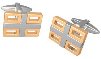 Golden Stainless Steel Cufflinks