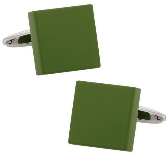 Green Square Art Deco Cufflinks