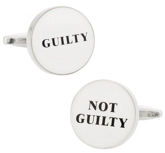 Guilty / Not Guilty Cufflinks