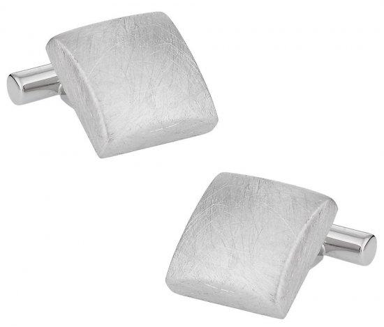 Hand Brushed Silver Cufflinks