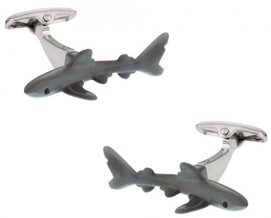 Hand-Painted Shark Cufflinks