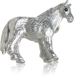 Horse Cufflinks with Swarovski Eyes