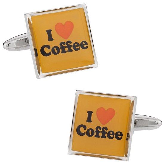 I Love Coffee Cufflinks