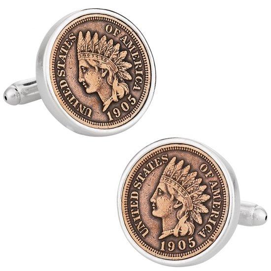 Indian Head Penny Coin Cufflinks