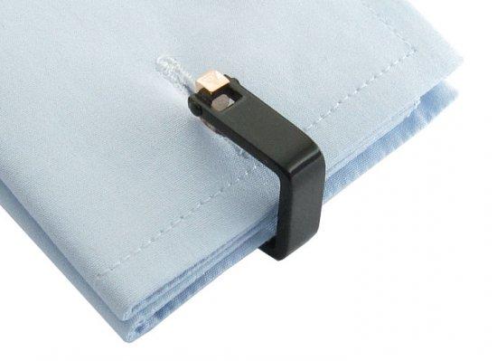 Innovative Wrap Black Cufflinks