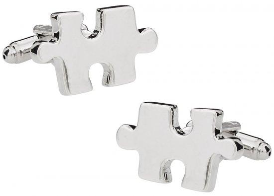 Jigsaw Puzzle Cufflinks (Autism Awareness Month)