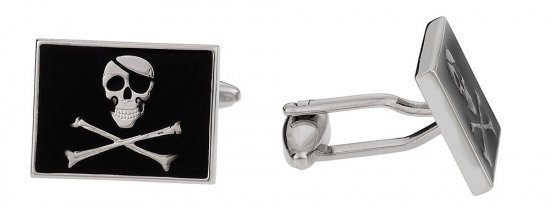 Jolly Rodger Flag Skull Cufflinks