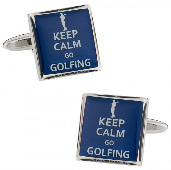 Keep Calm Golfing Cufflinks